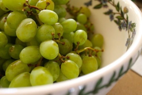 Grapes that are plump