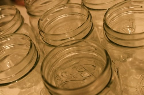 Jam jars to fill with alcohol