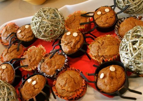 halloween pumpkin muffins   by the skinny confidential
