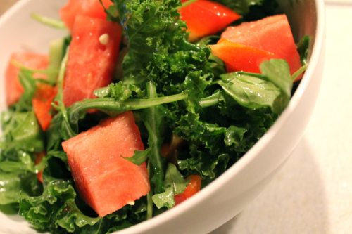 Watermelon-and-arugula-salad-with-hot-house-cucumber
