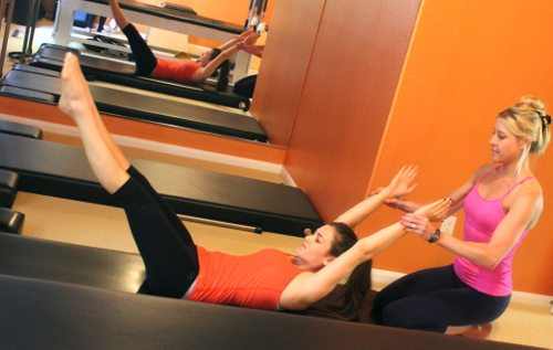 Jordan Bosstick, Cindy Jansen, and Lauryn Evarts talk easy Pilates move to do at home.