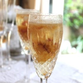 Homemade White Peach Bellinis
