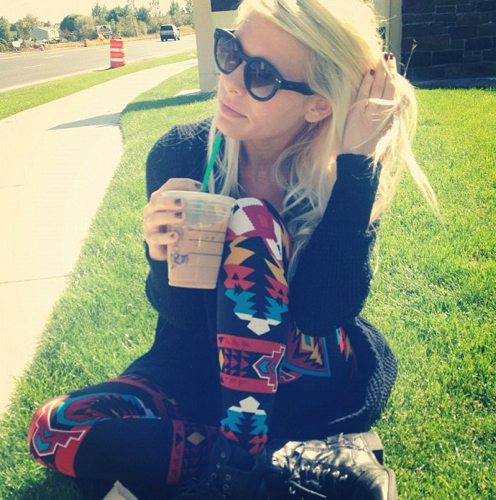 Lauryn Evarts and Megan Anderson pair up to do a StyleLately giveaway for tribal navajo leggings.