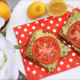 My Favorite Snack in the World= Avo + Low Carb Toast