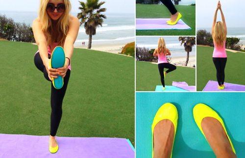 Lauryn Evarts, fitness blogger, health blogger, and fashion blogger talks Tieks' shoes.