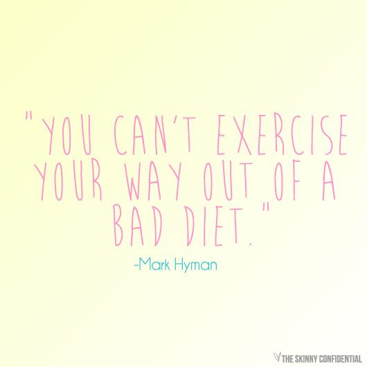can i outwork a bad diet