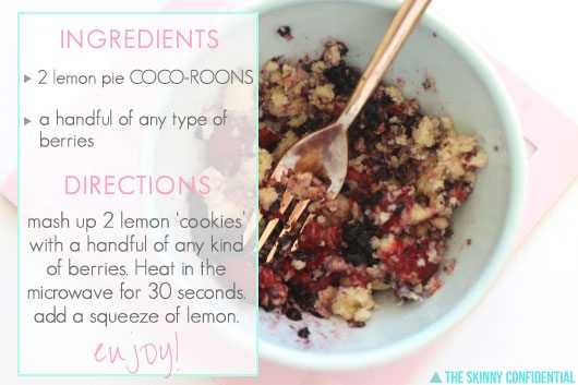 recipe for 100 calorie lemon berry crumble: ingredients and directions