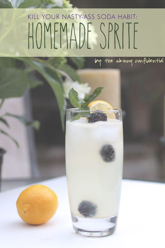 Homemade Sprite by Lauryn Evarts of The Skinny Confidential