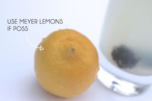 meyer lemons for homemade sprite
