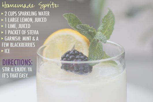 homemade sprite recipe by The Skinny Confidential