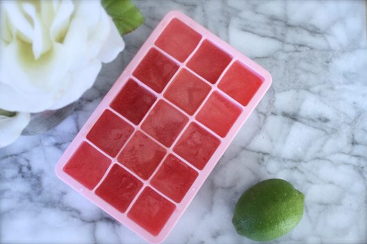 Watermelon ice cubes 1