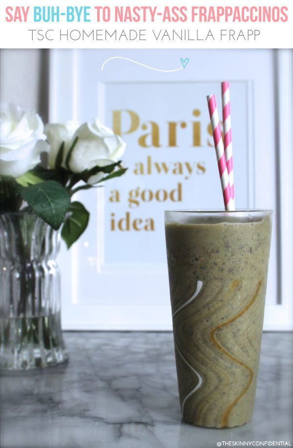 The Skinny Confidential shares a Frappacino recipe.