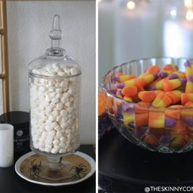 Yummm…A Halloween Candy Bar Cart