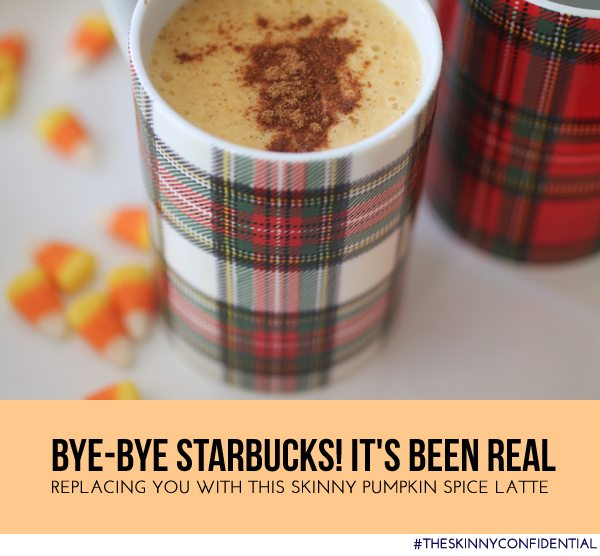 The Skinny Confidential shares a skinny pumpkin spice latte.