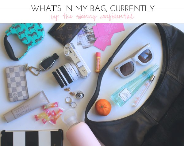 The Skinny Confidential: what's in my bag?