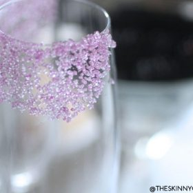 Blackberry Bubbles With Burlap & Crystal: Part II