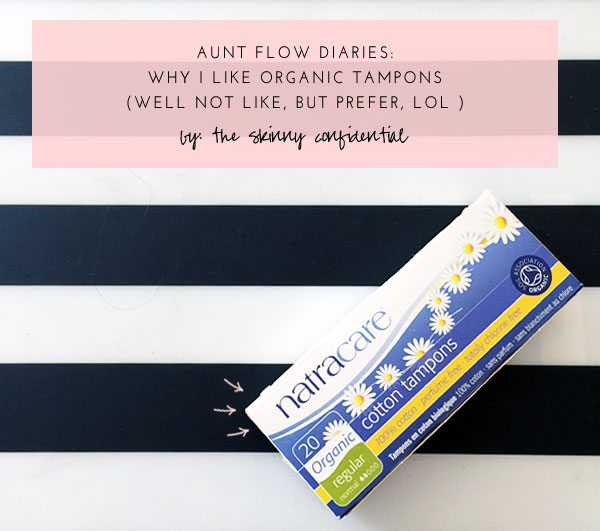The Skinny Confidential talks tampons.