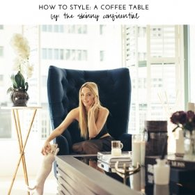 How To Style: A Sexy, Little Coffee Table