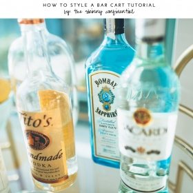 How To Style A Bar Cart Video Tutorial