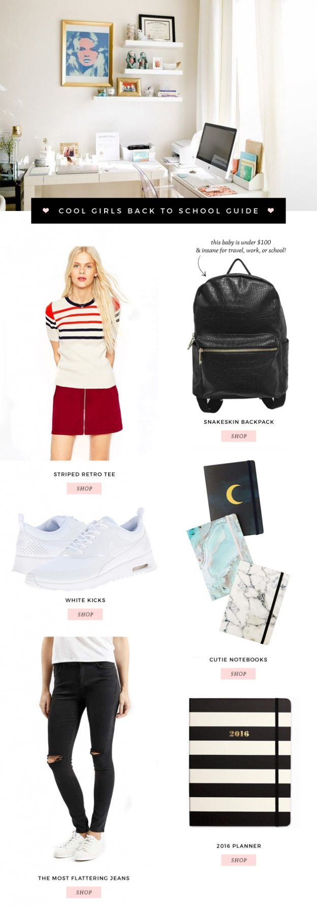 COOL GIRLS BACK TO SCHOOL GUIDE