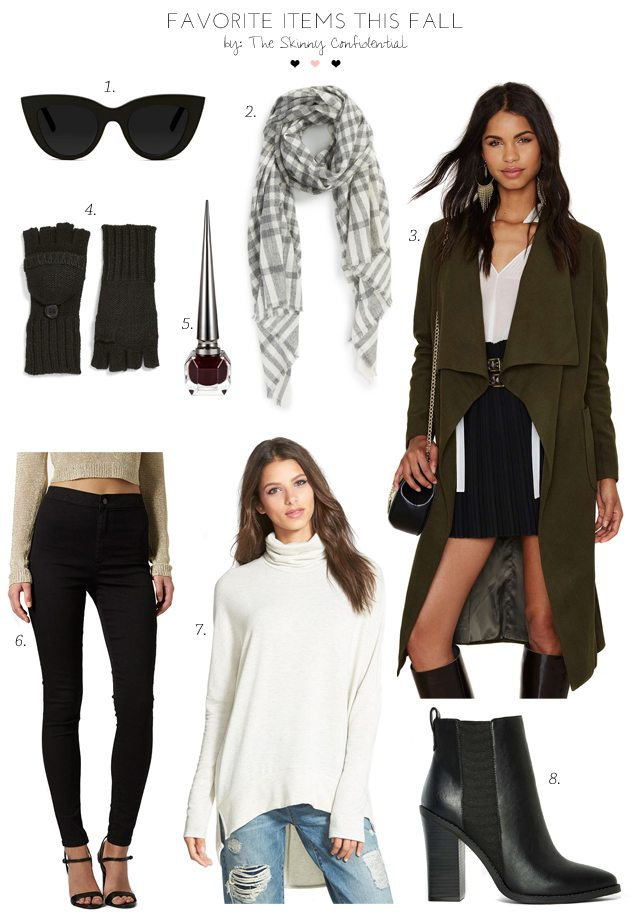 Favorite Items This Fall by The Skinny Confidential