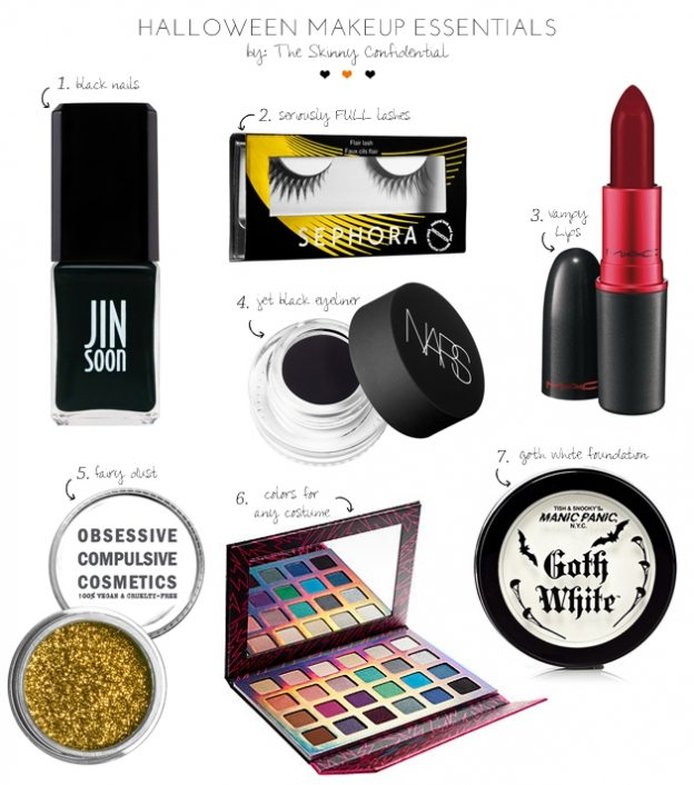 Halloween Makeup Essentials by The Skinny Confidential