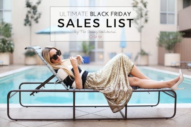 Ultimate Black Friday Sales List by The Skinny Confidential