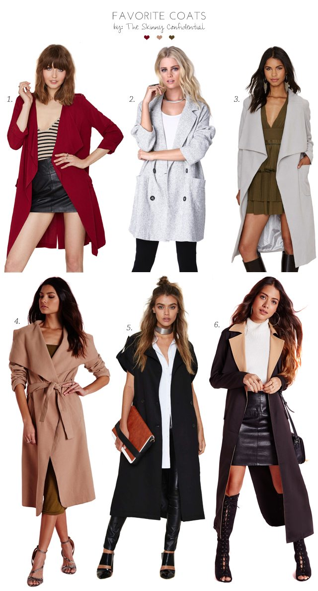 Favorite Coats by The Skinny Confidential