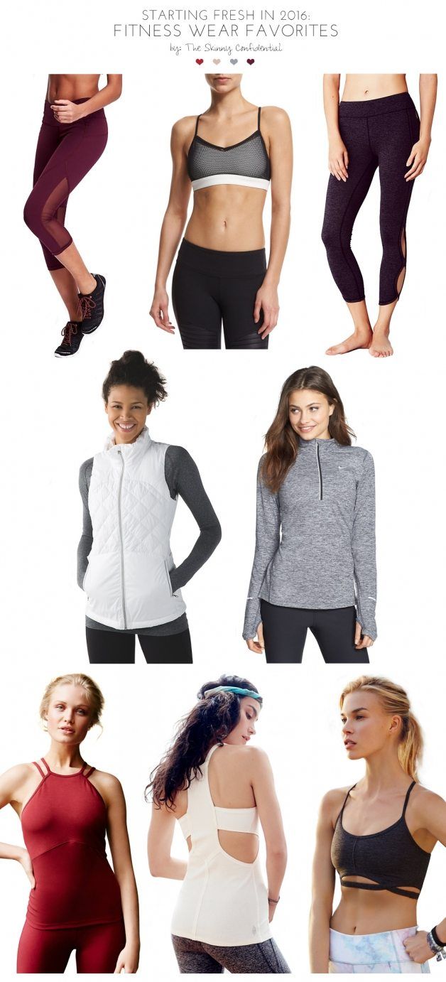 starting fresh: fitness wear favorites  | by the skinny confidential