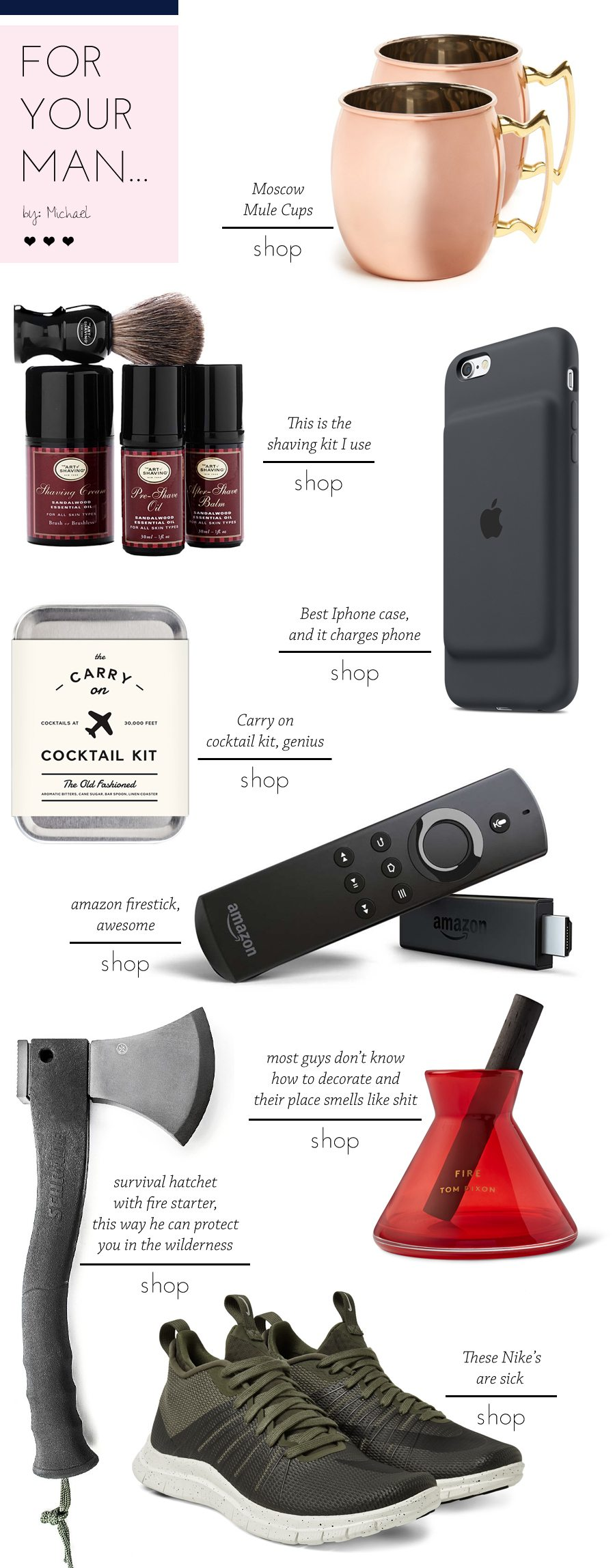 valentines day gifts for your man by michael | by the skinny confidential