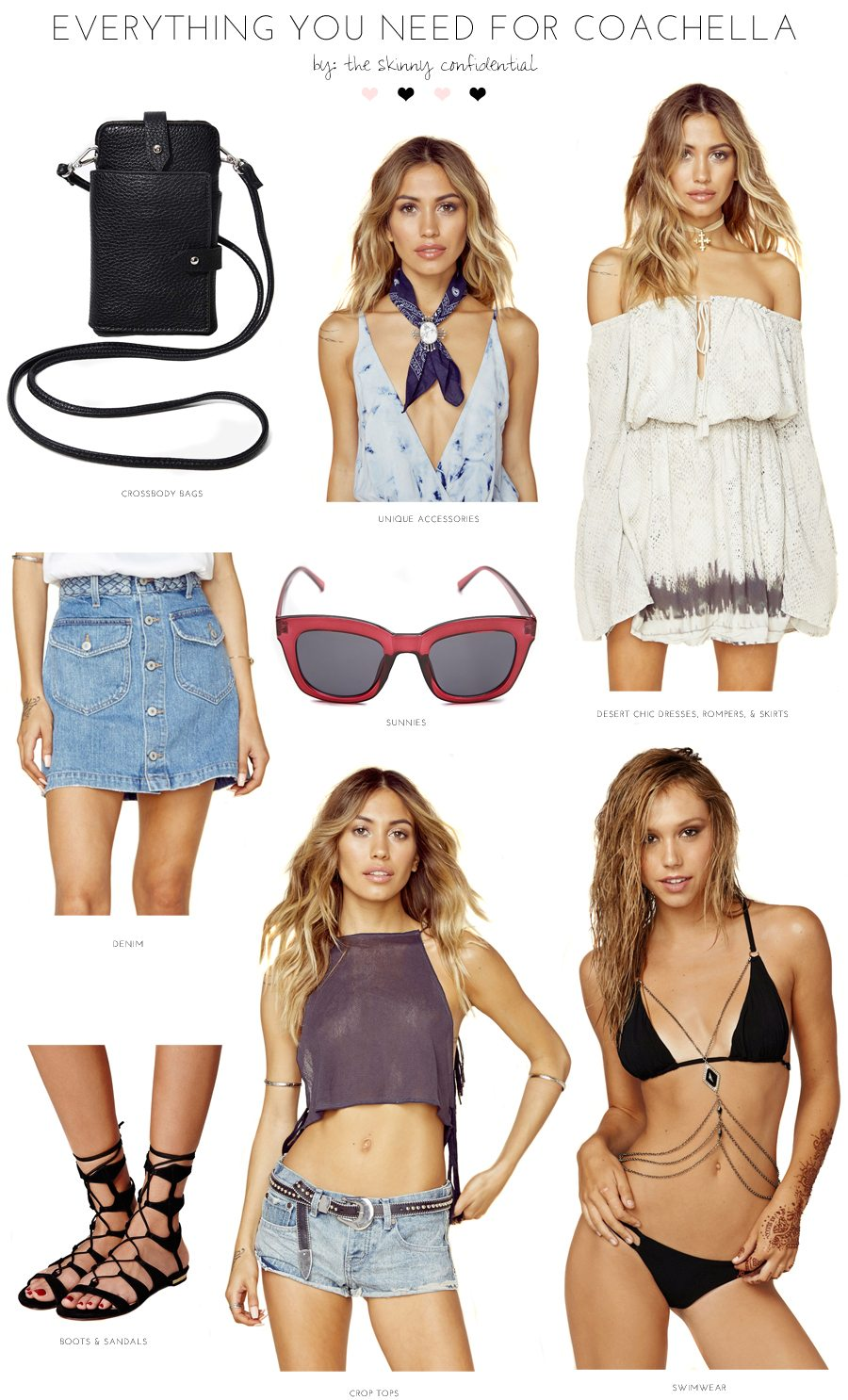coachella essentials | by the skinny confidential
