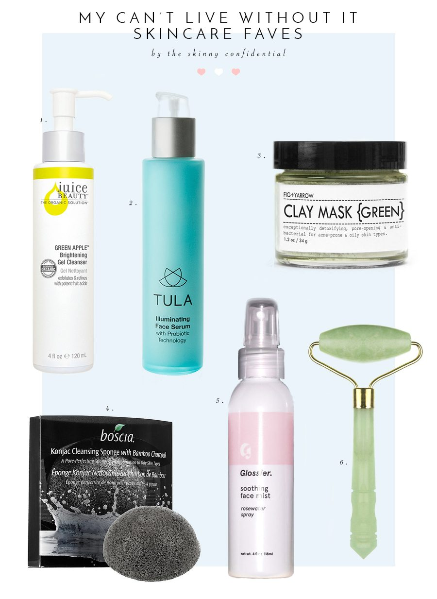 skincare faves | by the skinny confidential