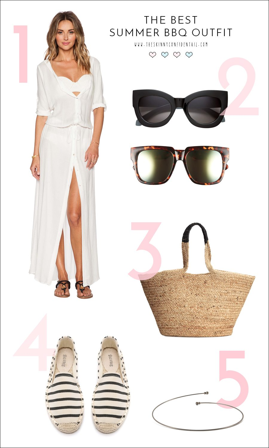 best summer bbq outfit   by the skinny confidential