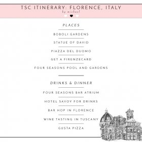 TSC Itinerary: Full On Guide to Florence, Italy