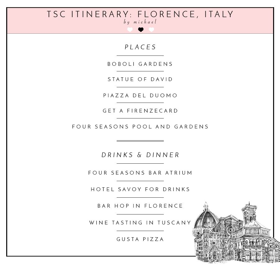 Perfect Florence Itinerary by Michael Bosstick, Fiancé of Lauryn Evarts of The Skinny Confidential