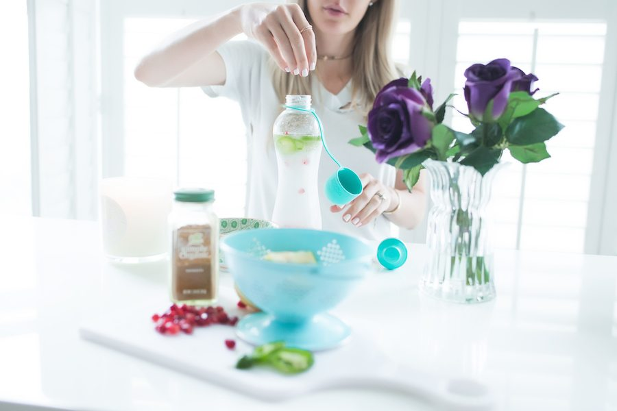 Spicy, Bring It To The Office Spa Water by The Skinny Confidential featuring Water Bobble!