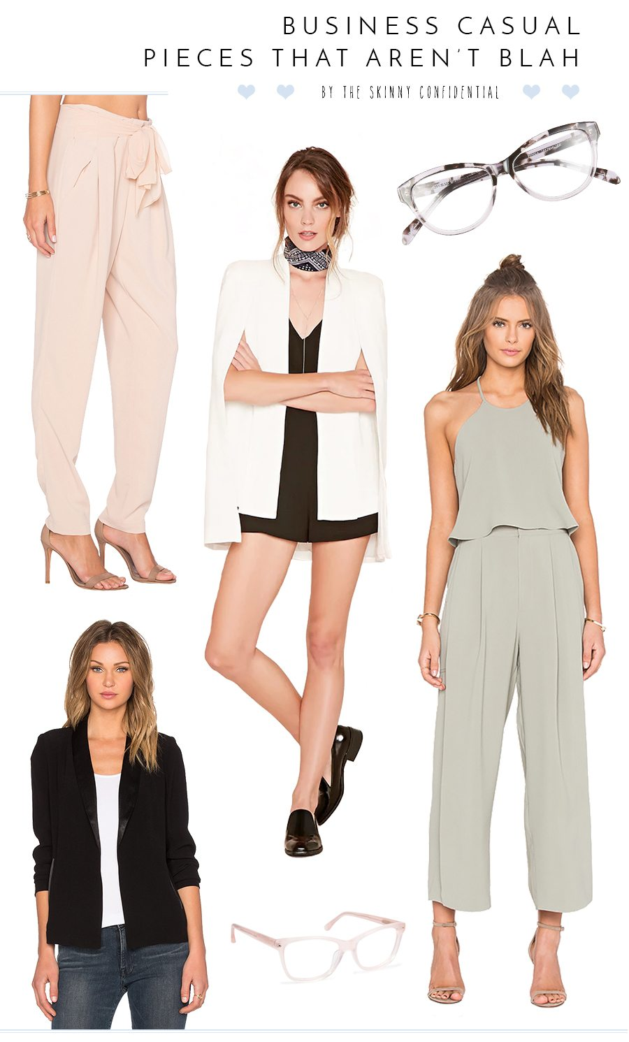 super chic business casual pieces that aren't blah. Use these items to create a chic, cute business casual outfit appropriate for any work environment! by the skinny confidential