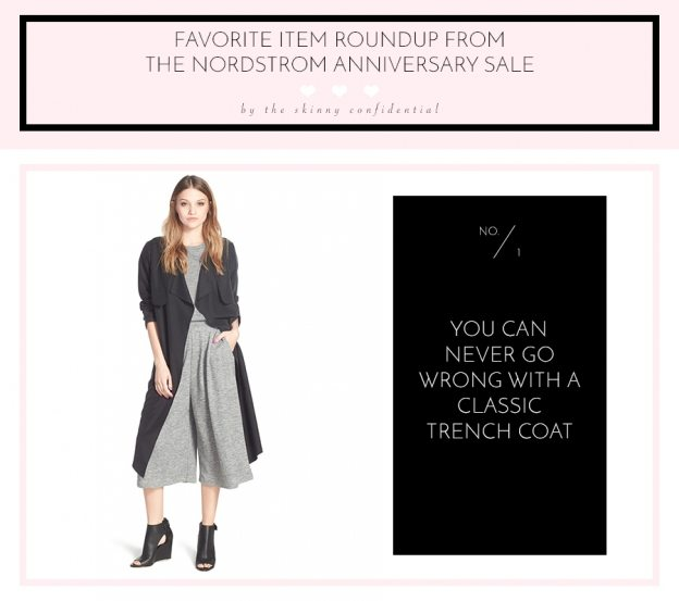 favorite item roundup from the Nordstrom Anniversary Sale - trench coat | by the skinny confidential