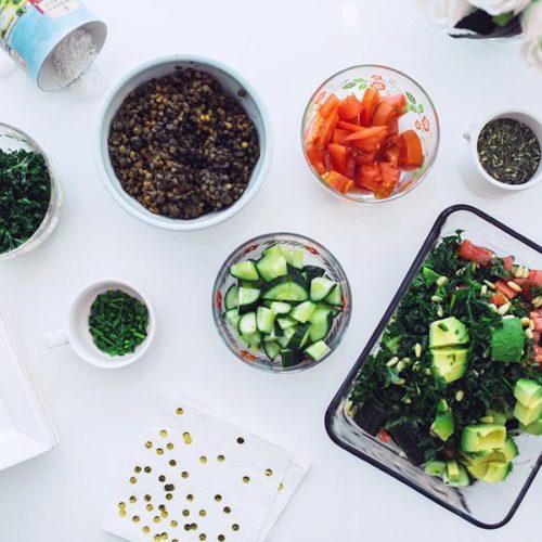 Yes PLZ! Unreal Lentil, Avocado, Tomato Salad