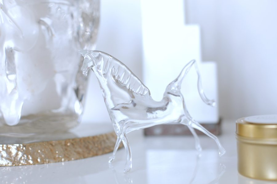 mini delites glass horse | by the skinny confidential