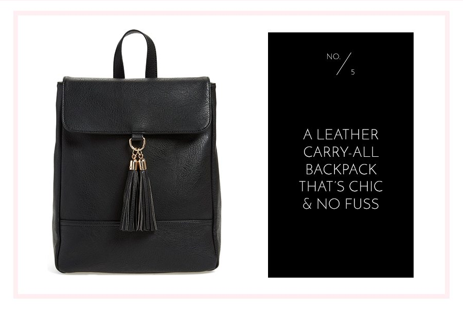 favorite item roundup from the Nordstrom Anniversary Sale - leather backpack | by the skinny confidential