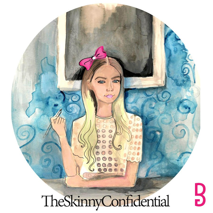 Brittany Morganti artwork of Lauryn Evarts founder of The Skinny Confidential