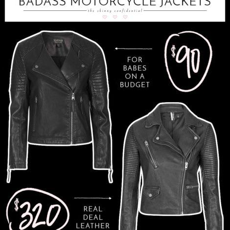 save vs splurge: badass motorcycle jackets