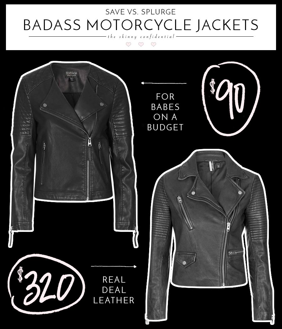save vs splurge: badass motorcycle jackets