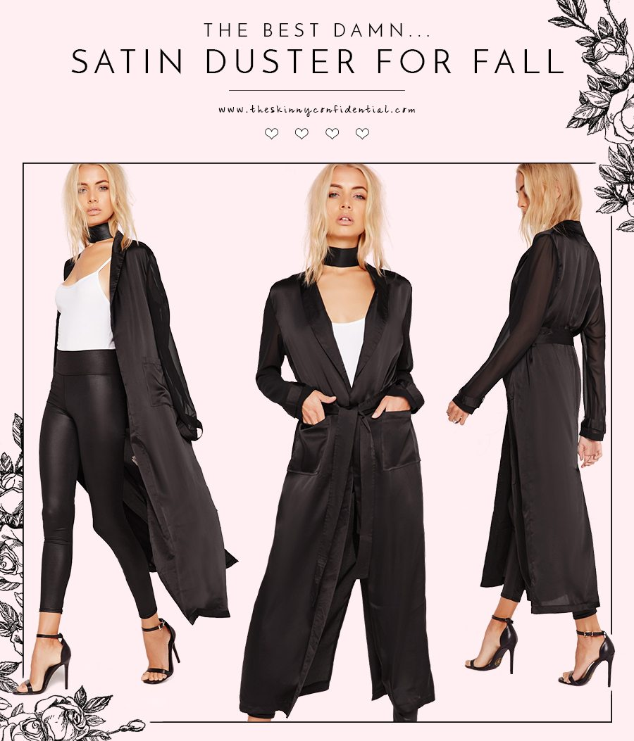 The Best Damn Satin Duster For Fall | byt the skinny confidential