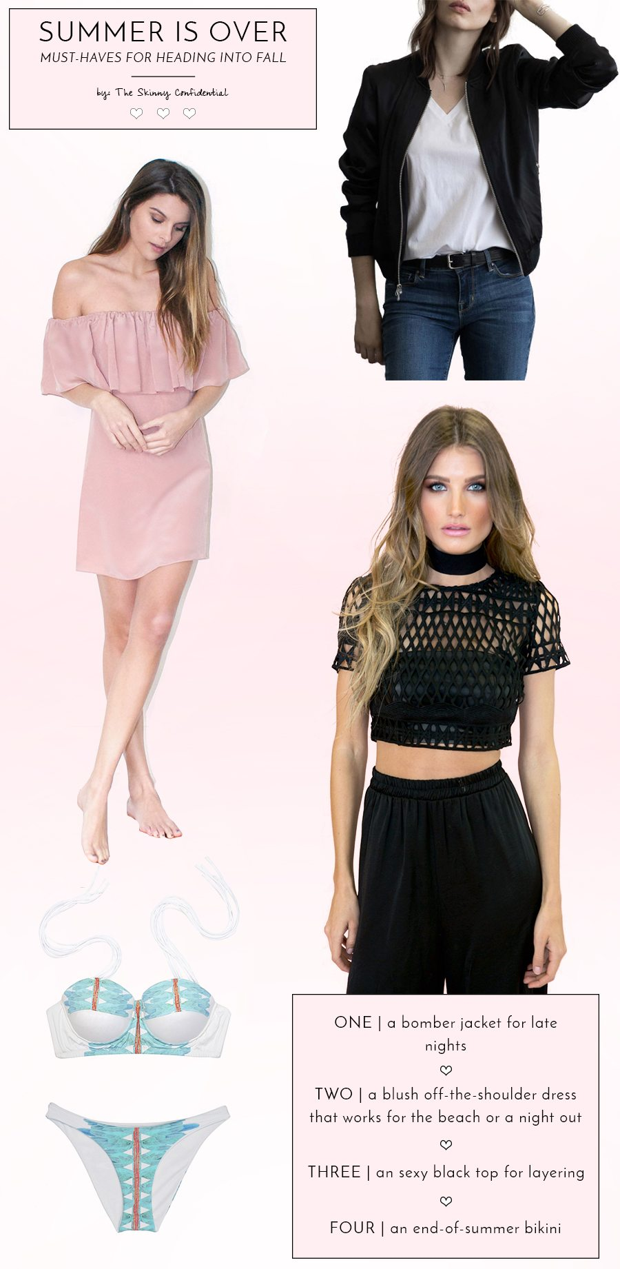 summer is over must haves | by the skinny confidential