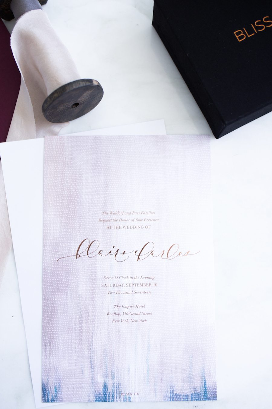 wedding invitation process with bliss & bone | by the skinny confidential