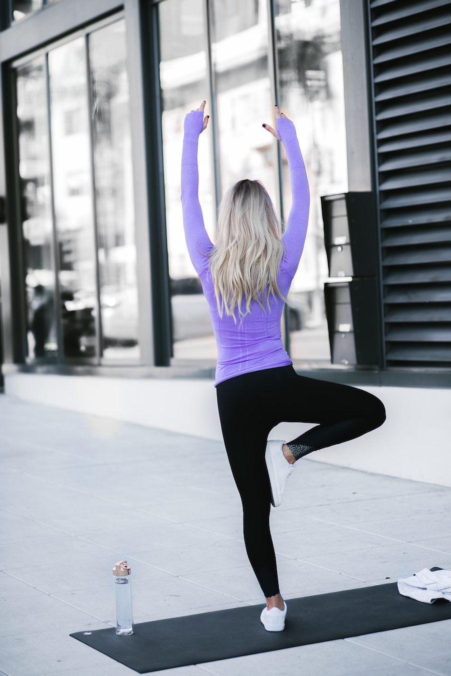 MENTAL CLARITY, FITNESS, & A POP OF PURPLE | by the skinny confidential featuring Lululemon