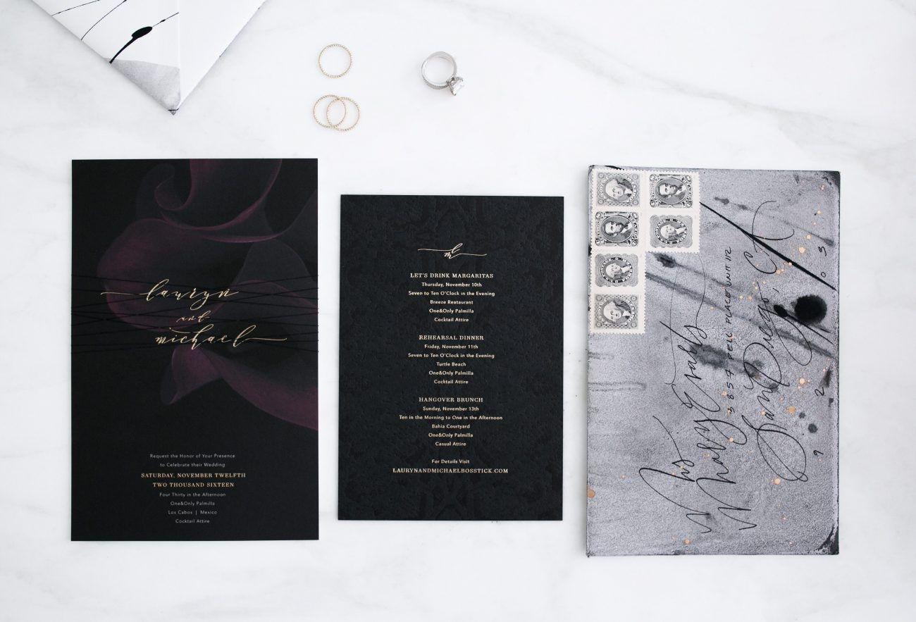 My Moody Modern Wedding Invitations