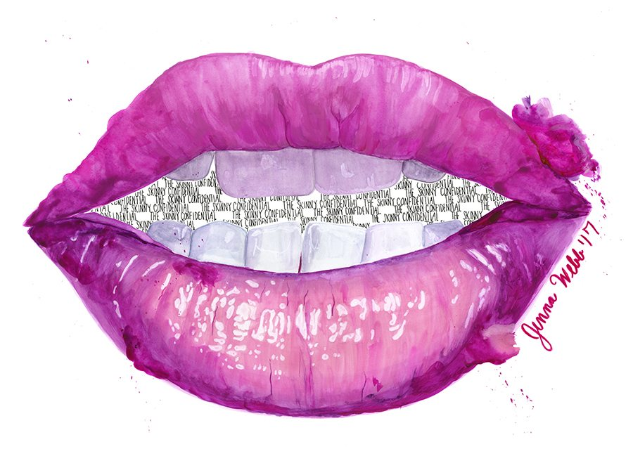 jenna webb x TSC | pink lip graphic